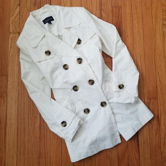 Jones New York Jackets & Blazers - Jones New York Double Breasted Trench Coat Ivory M